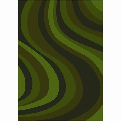 Green Area Rug Rug Size: 3'10