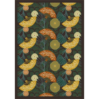 Pacific Rim Yellow/Blue Area Rug Rug Size: 78 x 109