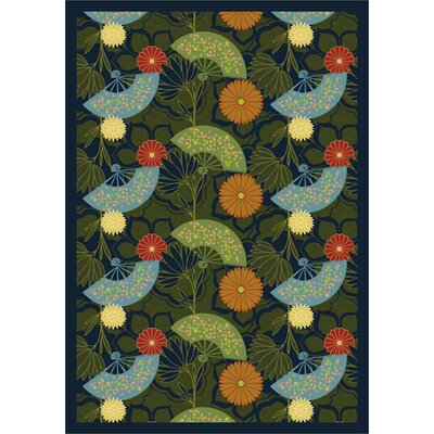 Pacific Rim Blue/Green Area Rug Rug Size: 109 x 132