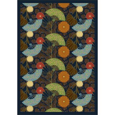 Green/ Blue Area Rug Rug Size: 78 x 109