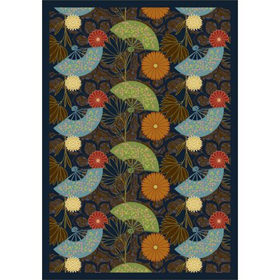 Green/ Blue Area Rug Rug Size: 54 x 78
