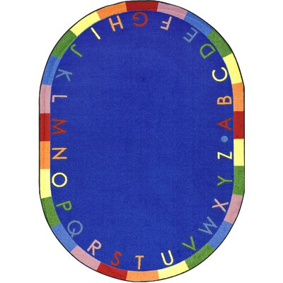 Blue Area Rug Rug Size: Oval 310 x 54