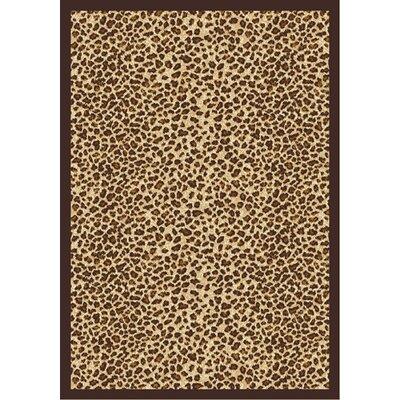 Animal print Area Rug Rug Size: 109 x 132
