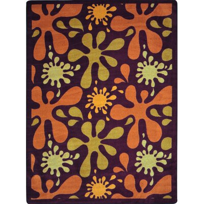Orange/Yellow Area Rug Rug Size: 109 x 132
