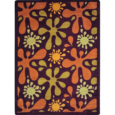 Orange/Yellow Area Rug Rug Size: 310 x 54