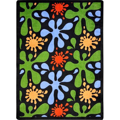 Blue/Green Area Rug Rug Size: 109 x 132