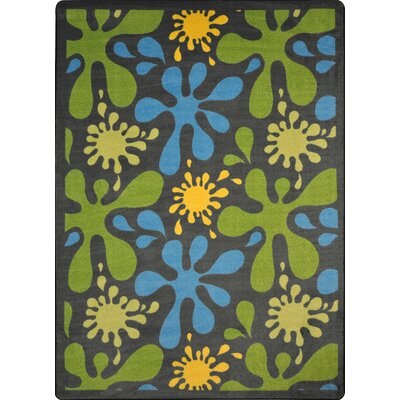 Green/Blue Area Rug Rug Size: 78 x 109