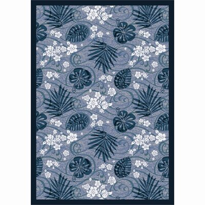 Blue/White Area Rug Rug Size: 54 x 78