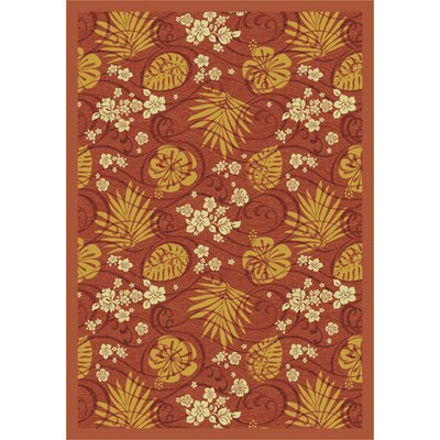 Red/Orange Area Rug Rug Size: 78 x 109