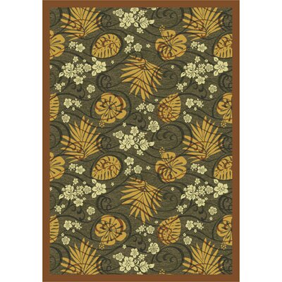 Green/Yellow Area Rug Rug Size: 78 x 109