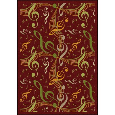 Red/Green Area Rug Rug Size: 54 x 78