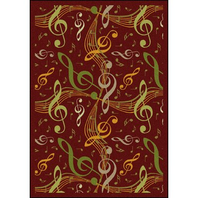 Red/Green Area Rug Rug Size: 109 x 132