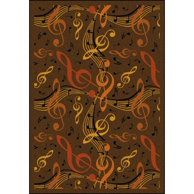 Brown/Orange Area Rug Rug Size: 54 x 78
