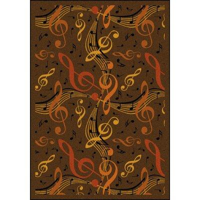 Brown/Orange Area Rug Rug Size: 54 x 78