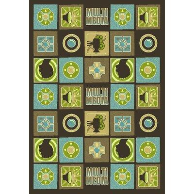 Green Area Rug Rug Size: 109 x 132