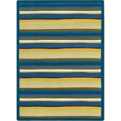 Blue/Yellow Area Rug Rug Size: Rectangle 54 x 78