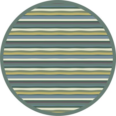 Green Area Rug Rug Size: Round 54