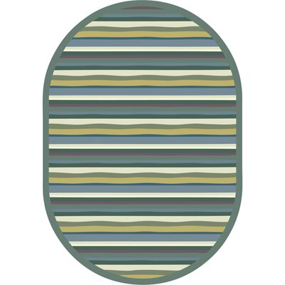 Green Area Rug Rug Size: Oval 109 x 132
