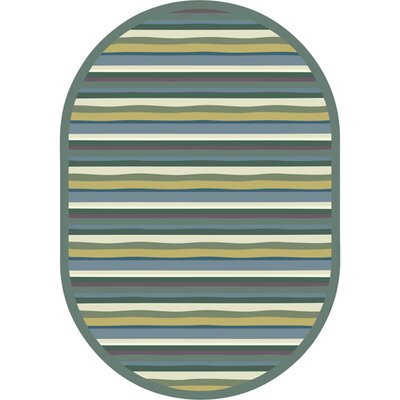 Green Area Rug Rug Size: Oval 54 x 78