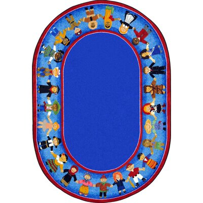 Tufted Blue Area Rug Rug Size: Oval 78 x 109