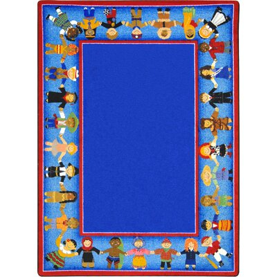 Tufted Blue Area Rug Rug Size: 10'9