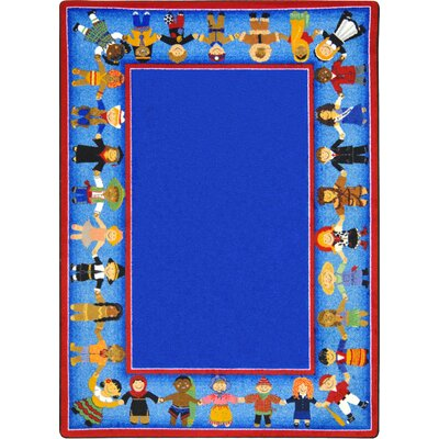 Tufted Blue Area Rug Rug Size: 78 x 109
