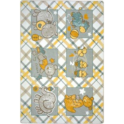 Yellow/Gray Area Rug Rug Size: 54 x 78
