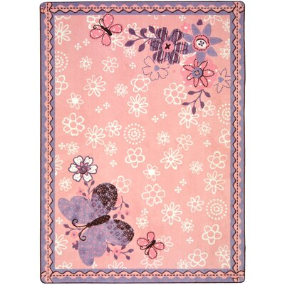 Pink Area Rug Rug Size: 54 x 78