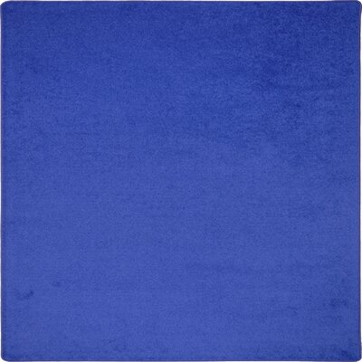 Blue Area Rug Rug Size: Square 6'