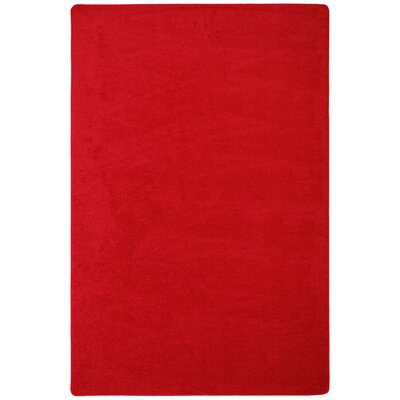 Red Area Rug Rug Size: Square 6