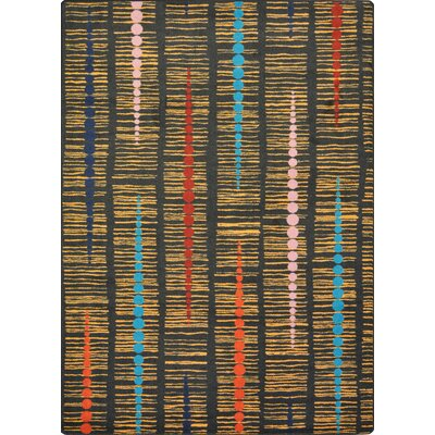 Brown/Black Area Rug Rug Size: 78 x 109