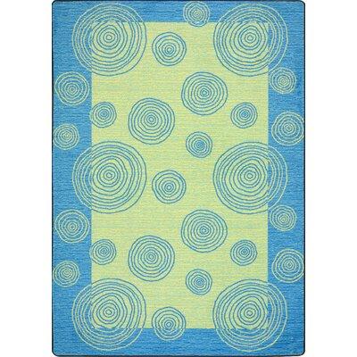 Blue/Beige Area Rug Rug Size: 54 x 78