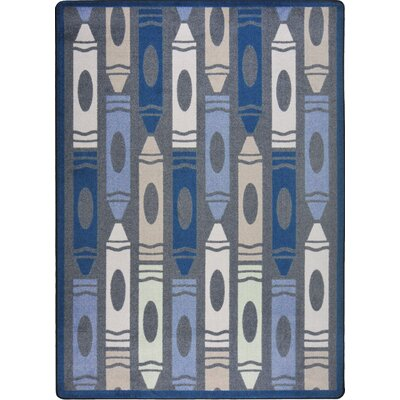 Hand-Tufled Gray Area Rug Rug Size: 78 x 109