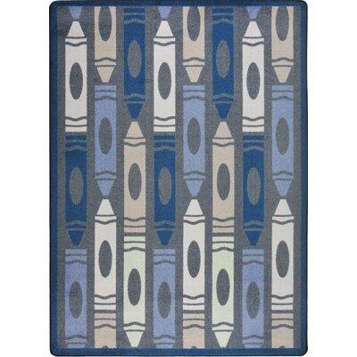 Hand-Tufled Gray Area Rug Rug Size: 109 x 132