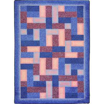 Hand-Tufled Blue/Brown Area Rug Rug Size: 109 x 132