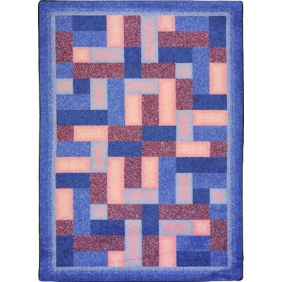 Hand-Tufled Blue/Brown Area Rug Rug Size: 54 x 78