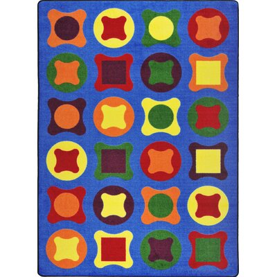 Hand-Tufled Blue Kids Rug Rug Size: 109 x 132