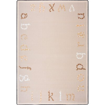 Hand-Tufled Beige/Brown Kids Rug Rug Size: 78 x 109