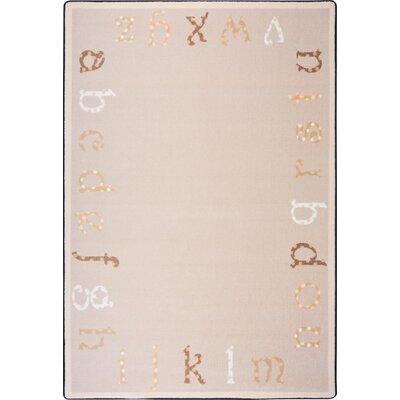 Hand-Tufled Beige/Brown Kids Rug Rug Size: 54 x 78