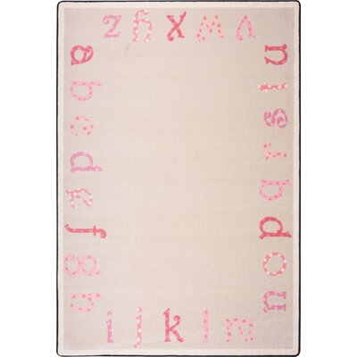 Hand-Tufled Pink Area Rug Rug Size: 109 x 132