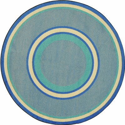 Hand-Tufled Blue Area Rug Rug Size: Oval 78 x 109