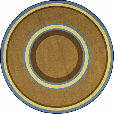 Hand-Tufled Brown Area Rug Rug Size: Oval 78 x 109