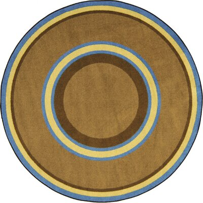 Hand-Tufled Brown Area Rug Rug Size: Round 77