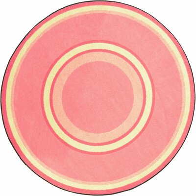 Hand-Tufled Pink Area Rug Rug Size: Oval 78 x 109