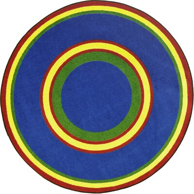 Hand-Tufled Blue Area Rug Rug Size: Round 77