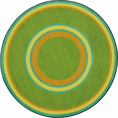 Hand-Tufled Green Area Rug Rug Size: Oval 109 x 132