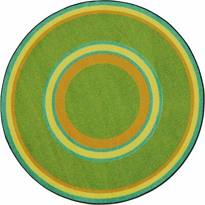 Hand-Tufled Green Area Rug Rug Size: Oval 54 x 78