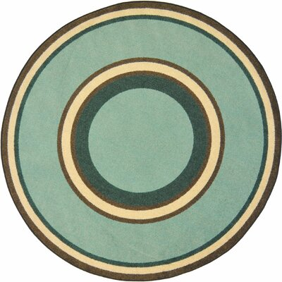 Hand-Tufled Green Area Rug Rug Size: Oval 78 x 109