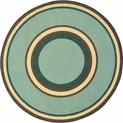 Hand-Tufled Green Area Rug Rug Size: Oval 109 x 132
