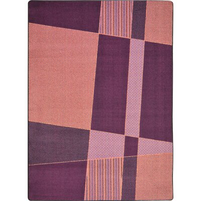 Hand-Tufled Purple/Pink Area Rug Rug Size: 54 x 78